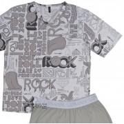 Pijama Masculino Upman Curto Rock Love Me - CJ022