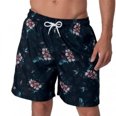 Shorts Beachwear Estampado Mash Floral Sombreado - 613.43