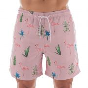 Shorts Beachwear Minimalista Flamingo Mash - 613.17