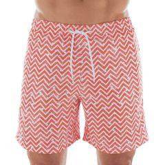 Shorts Beachwear Zig Zag Mash - Vermelho - 613.13