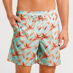 Shorts Masculino Mash Estampado Folha Seca Verde Claro - 613.70