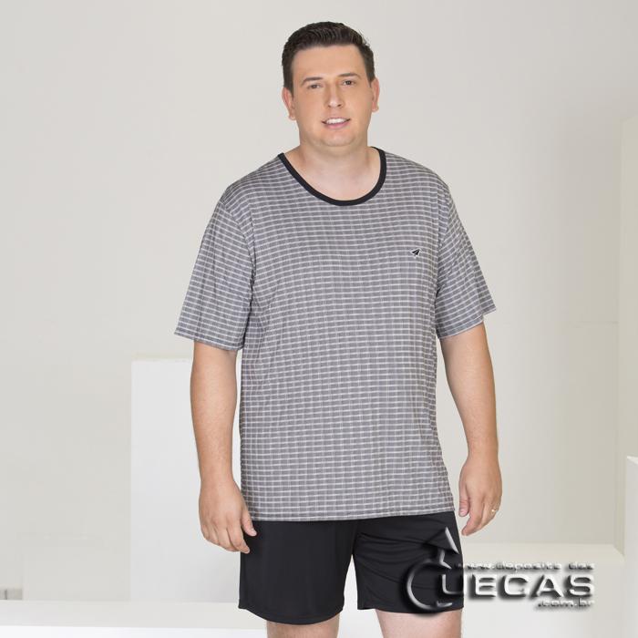 Pijama Plus Size de Microfibra Modo Avião - 07650