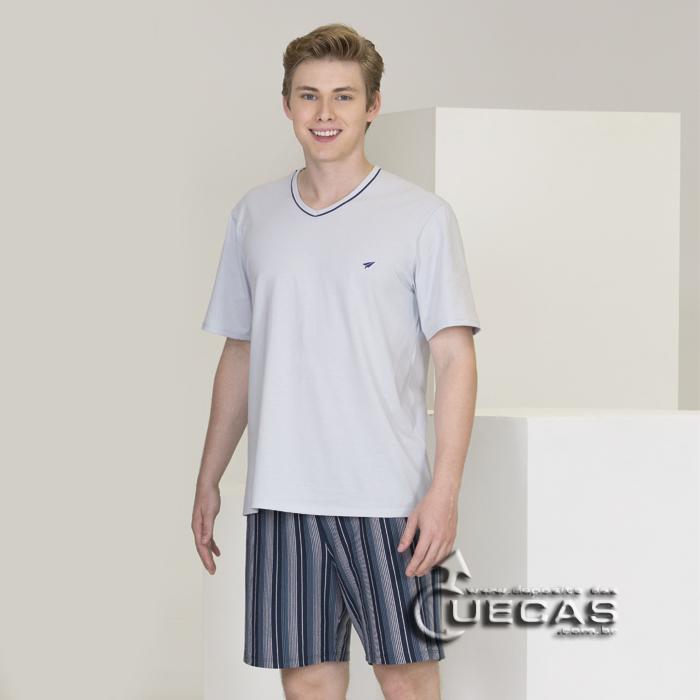 Pijama curto Modo Avião 100% algodão - 07662