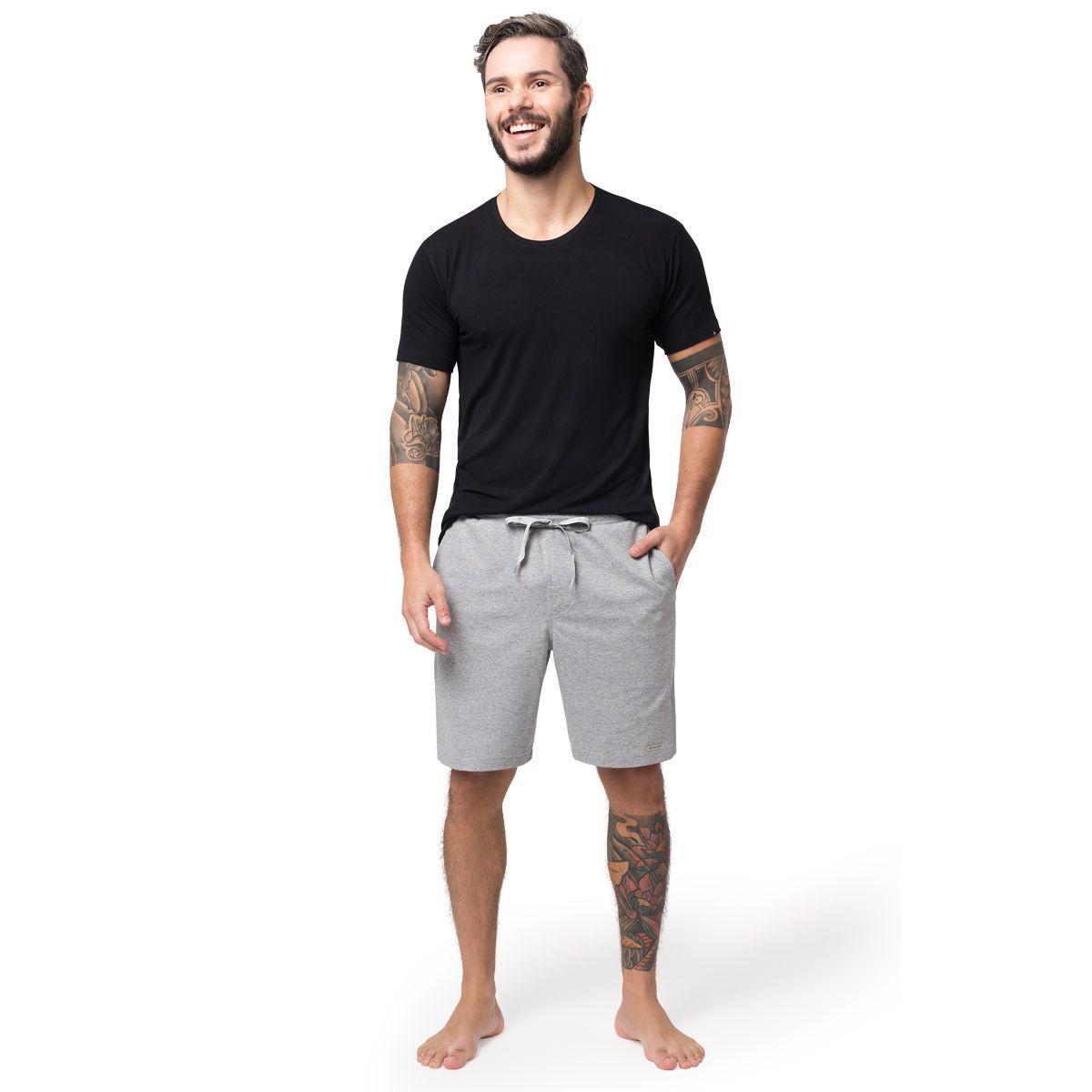 Bermuda Masculina Homewear Moletinho Mescla 05.02.023