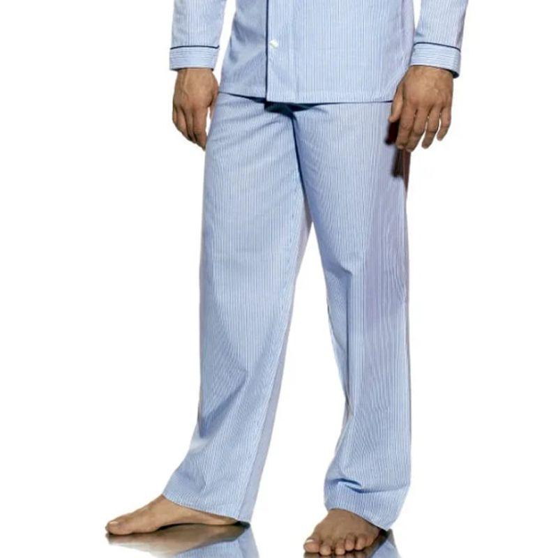 Calça Avulsa de Pijama Masculino Presidente Listrado Azul - CA272