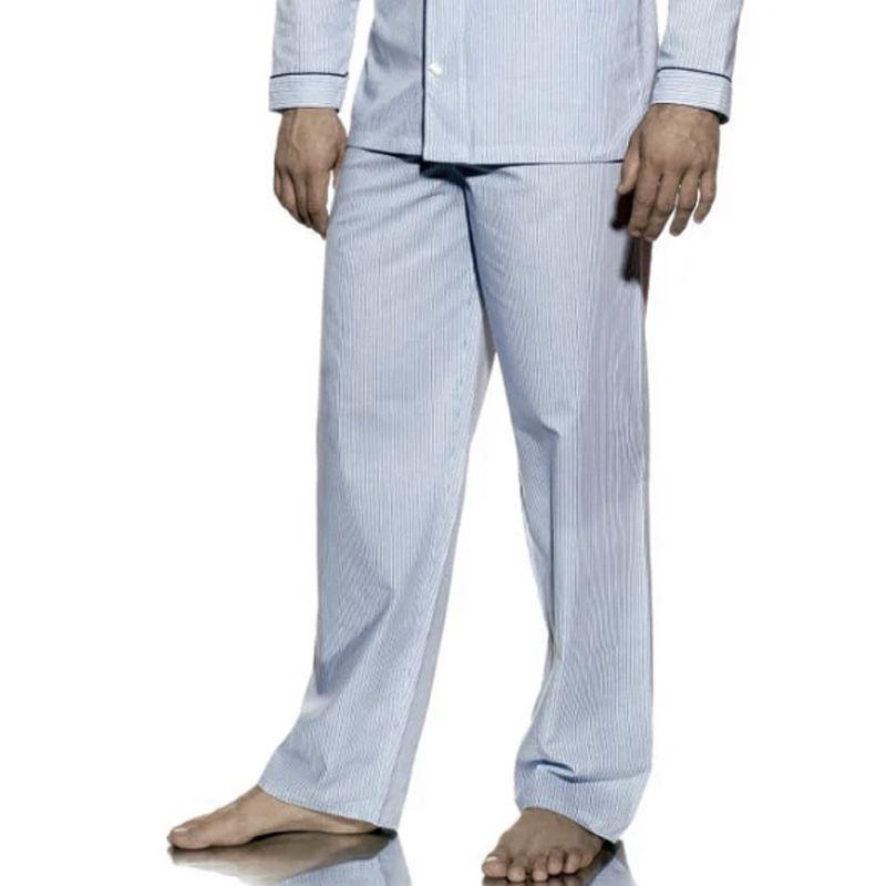 Calça Avulsa de Pijama Masculino Presidente Listrado Cinza - CA272