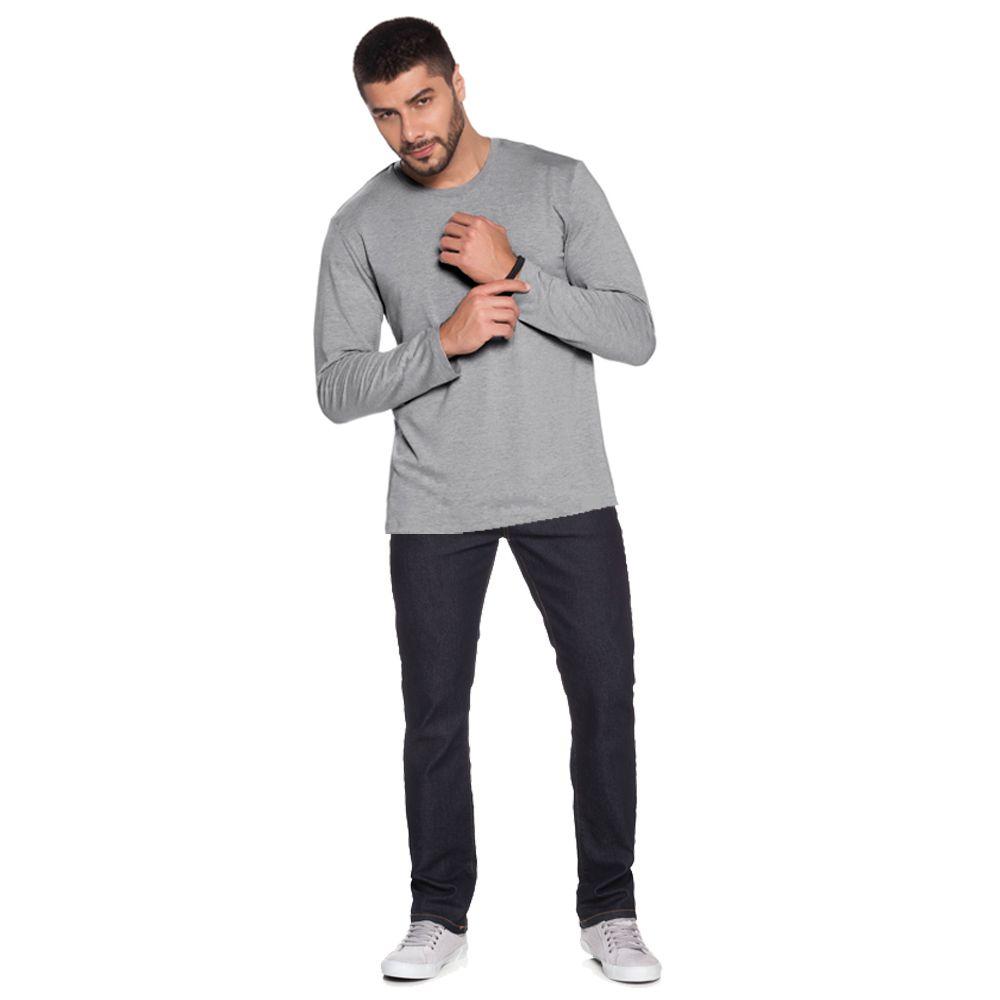 Camiseta Avulsa Manga Longa Básica Pijama Homewear em Viscolycra - L506