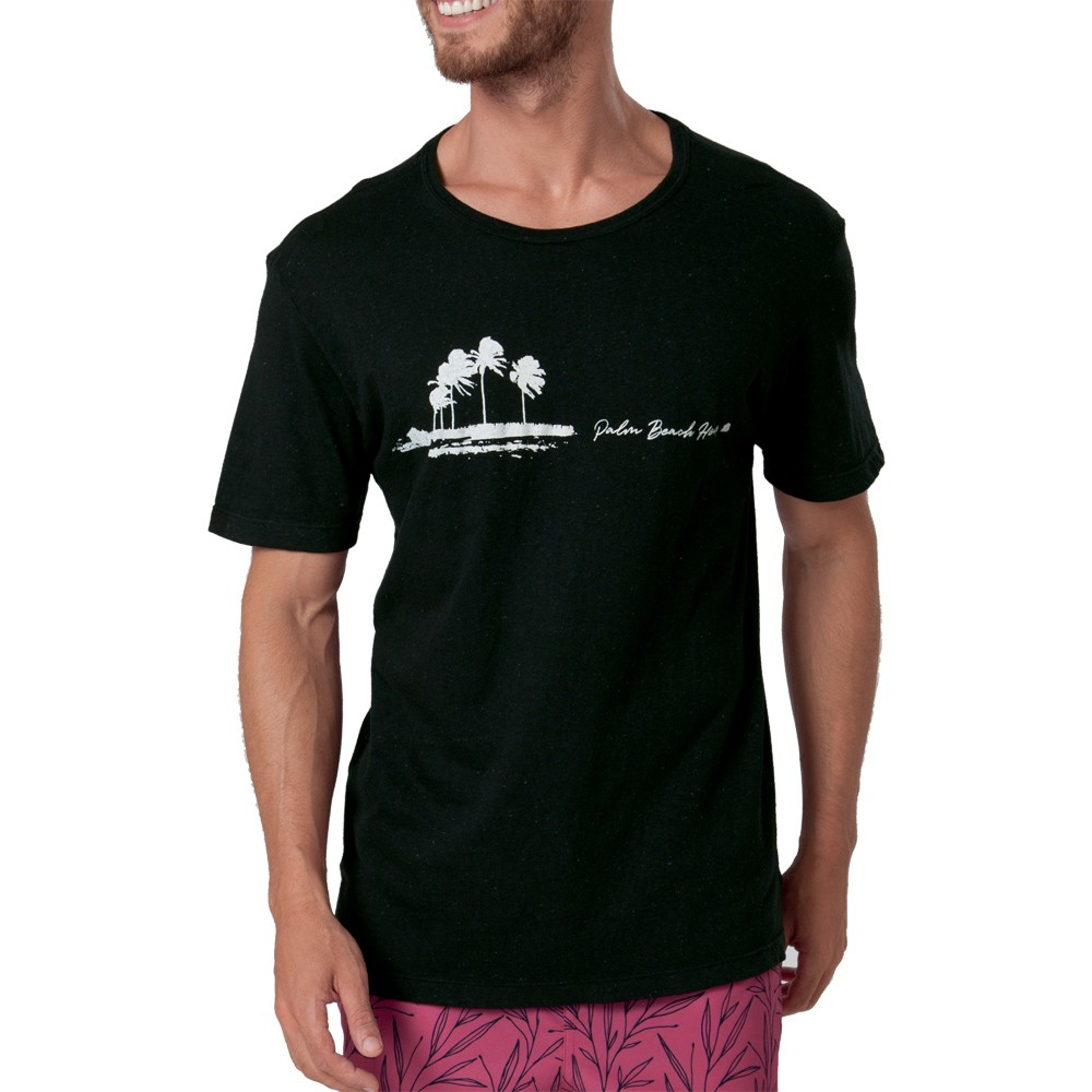 Camiseta Estampada Palm Beach Mash 100% Algodão - 632.19