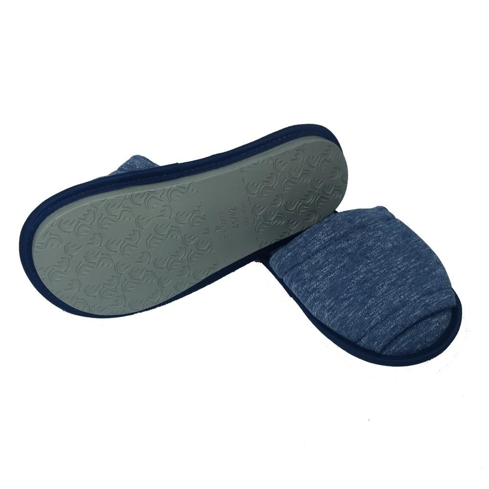 Chinelo de Quarto Masculino Aberto Azul Jeans 07.08.009