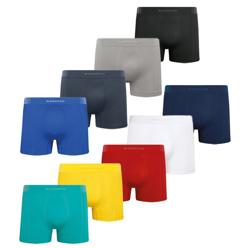 Cueca Boxer Cores Microfibra Sem Costura Selene - 11070