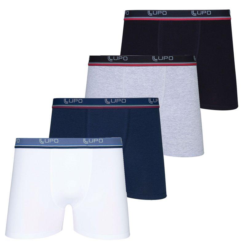 Cueca Boxer Cotton Lupo Tamanho Especial Plus Size - 653-001