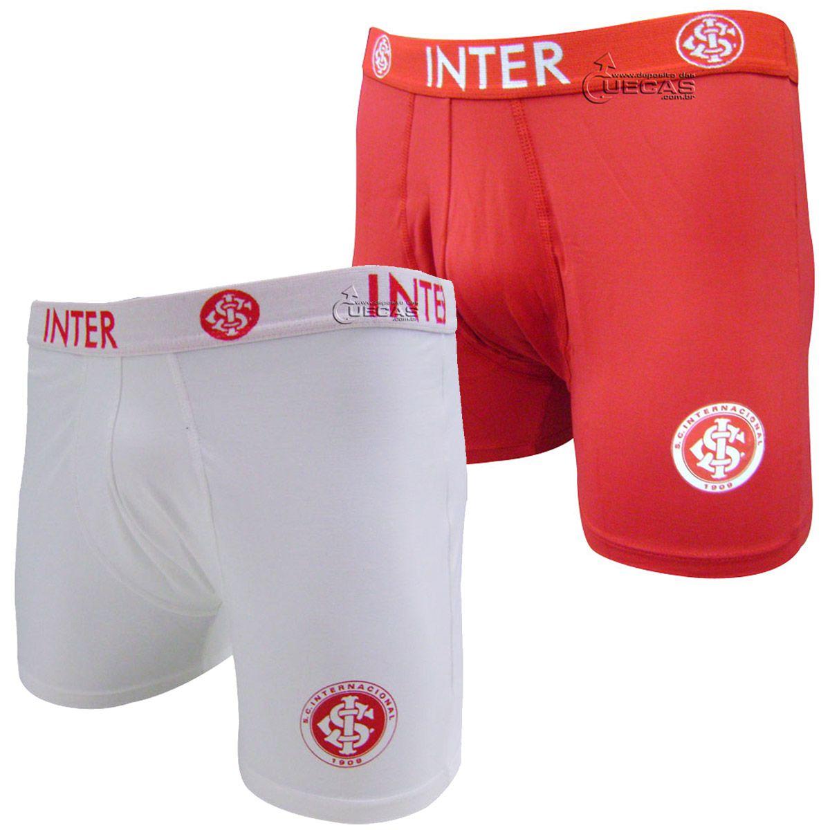 Cueca Boxer do Internacional Microfibra c/Silk - 04.0001