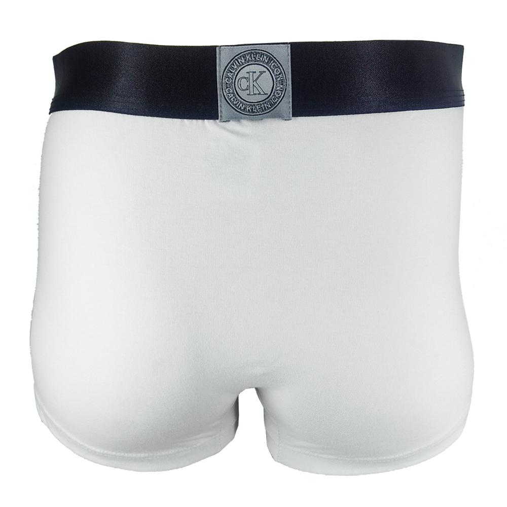 Cueca Boxer Low Rise Trunk Icon Cotton Branca MAS1871