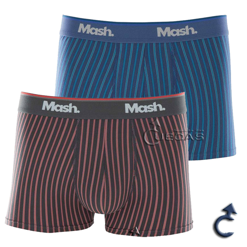 Cueca Boxer Mash Modal Listrada - 150.12
