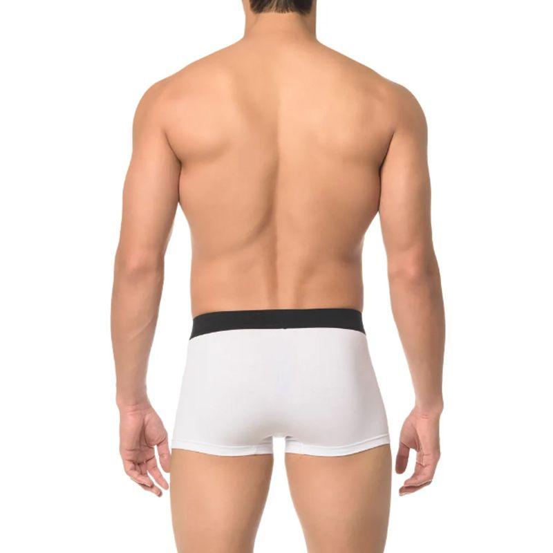 Cueca Boxer Monogram Cotton Calvin Klein SCH1678 Branca