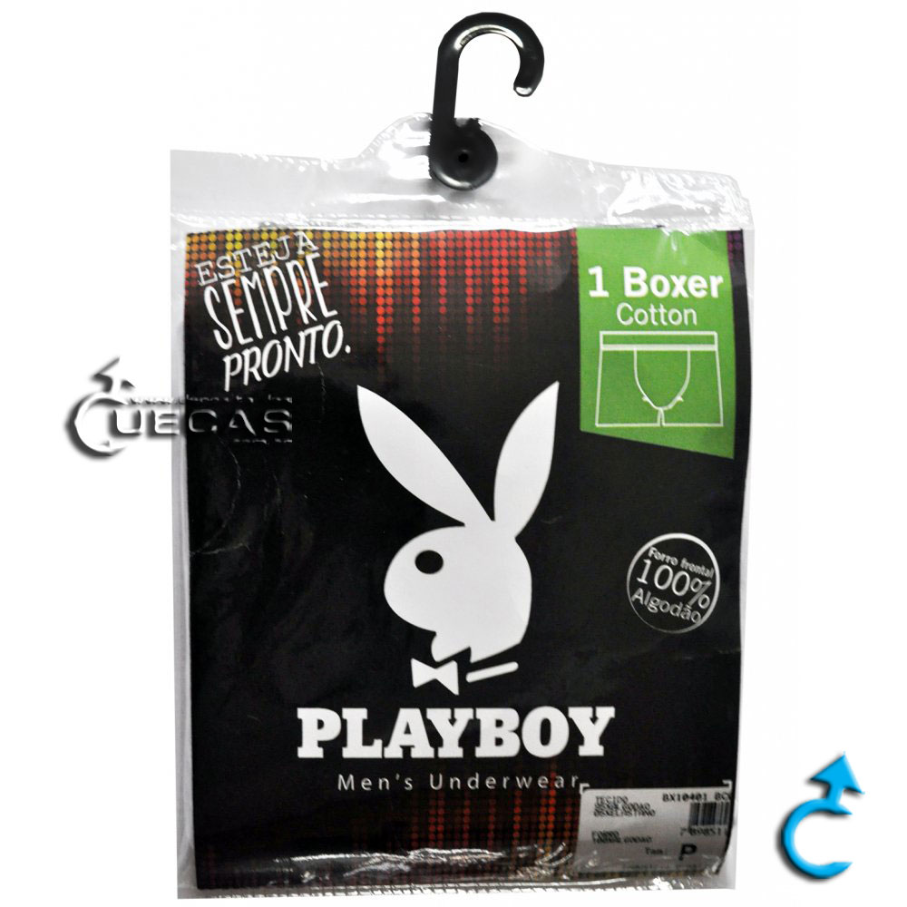 Cueca Boxer Playboy Cotton BX10401
