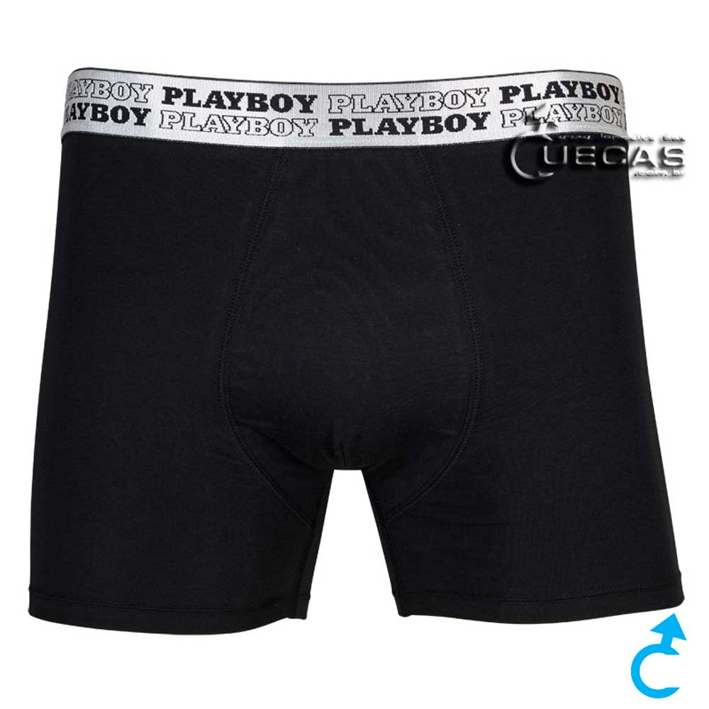 Cueca Boxer Playboy Cotton BX10404