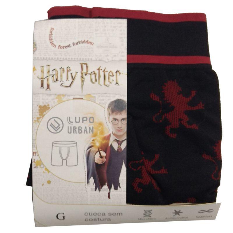 Cueca Boxer Sem Costura Harry Potter Grifinória Lupo 16973-001