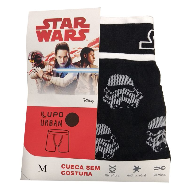 Cueca Boxer Sem Costura Star Wars Imperial Army Lupo 16974-002