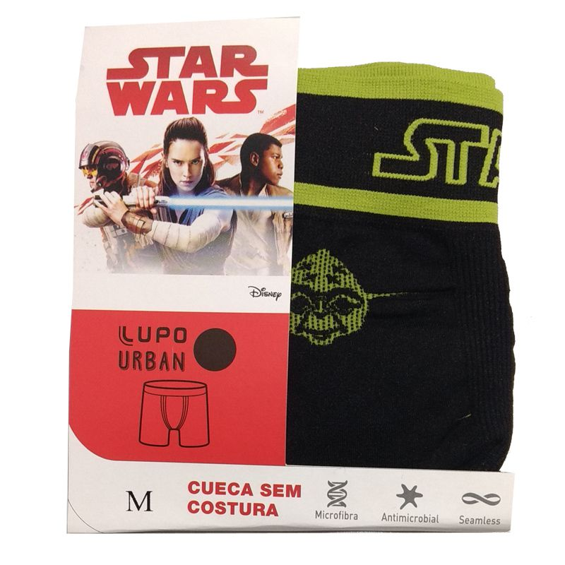 Cueca Boxer Sem Costura Star Wars Yoda Lupo 16974-003
