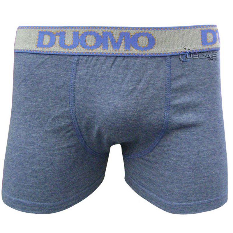 Cueca Duomo Boxer Azul Jeans - 409