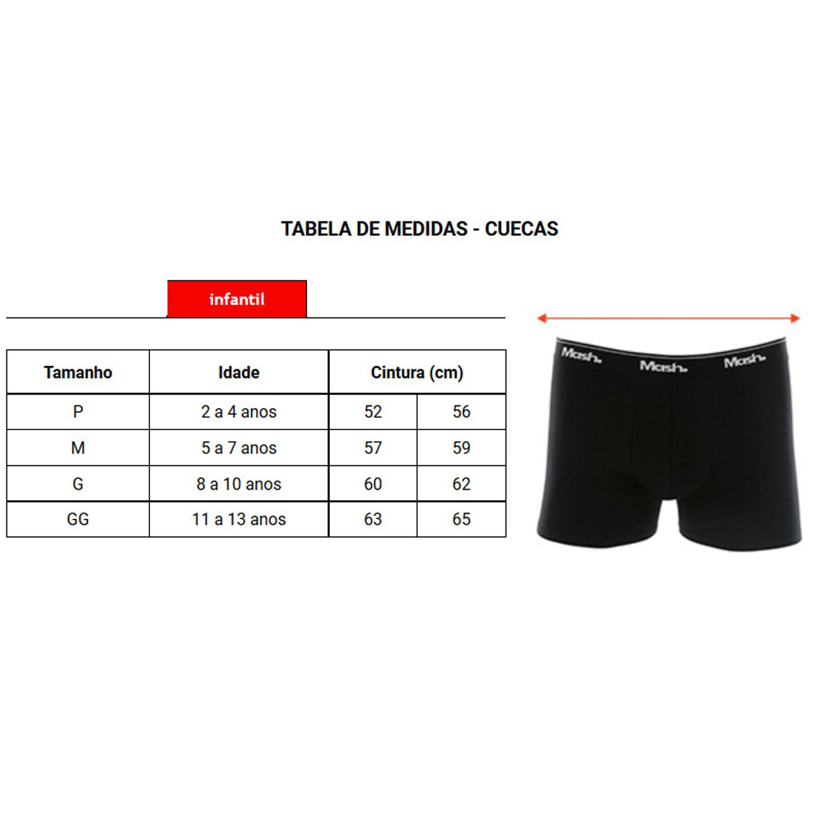 Cueca Mash Boxer Algodão Infantil - 190.03