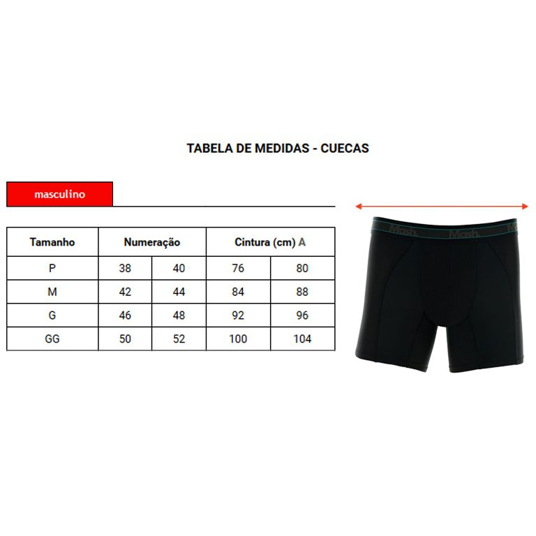 Cueca Mash Boxer Long Leg Microfibra Active - 140.09
