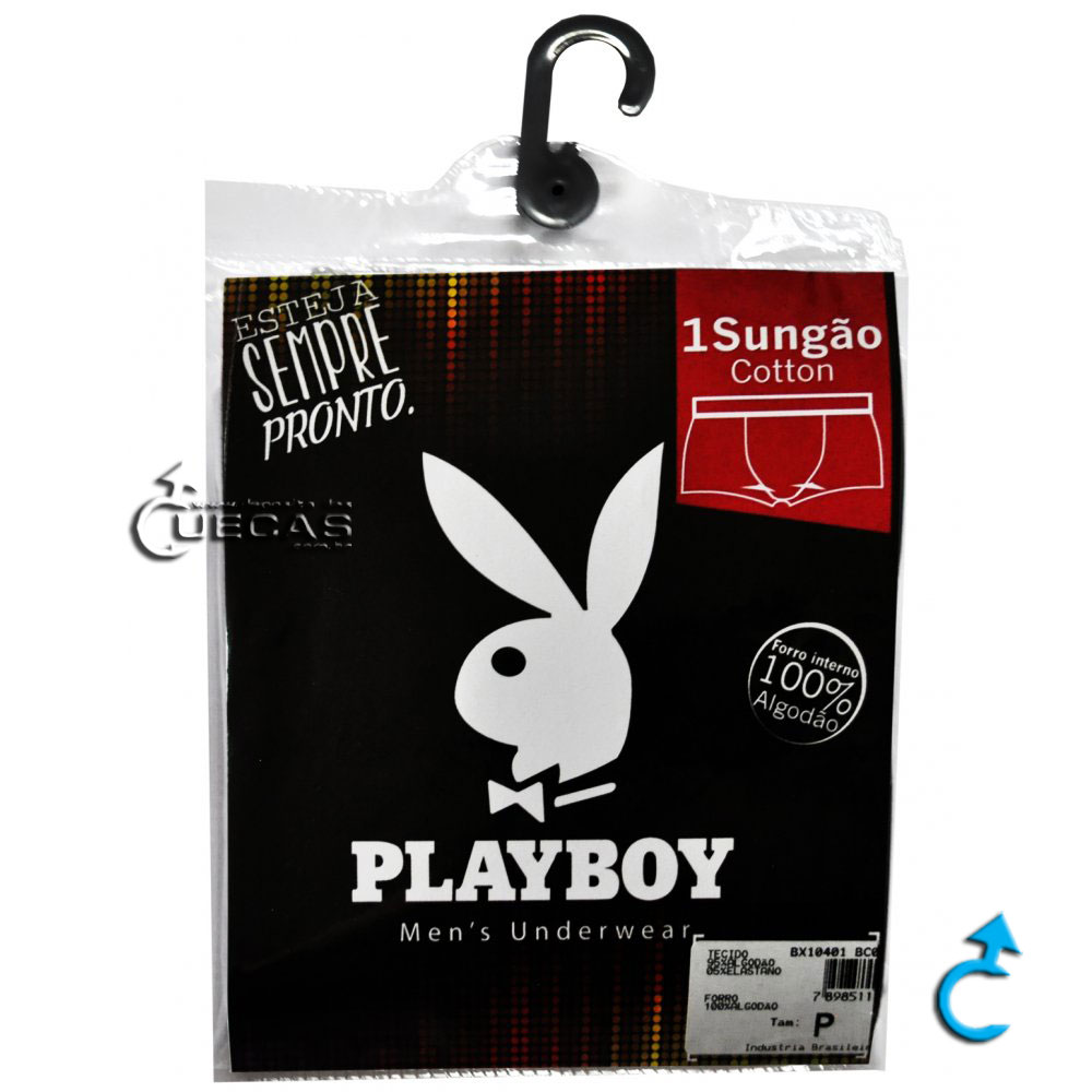 Cueca Sungão Cotton Playboy SG10401