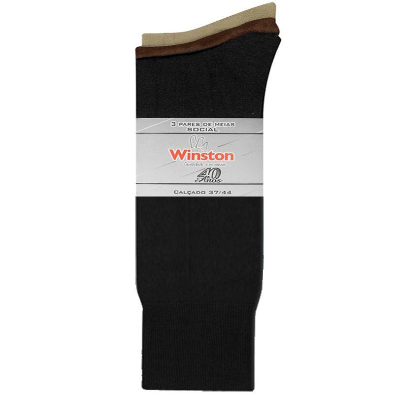 Kit 3 Pares de Meia Social Winston - 873-00