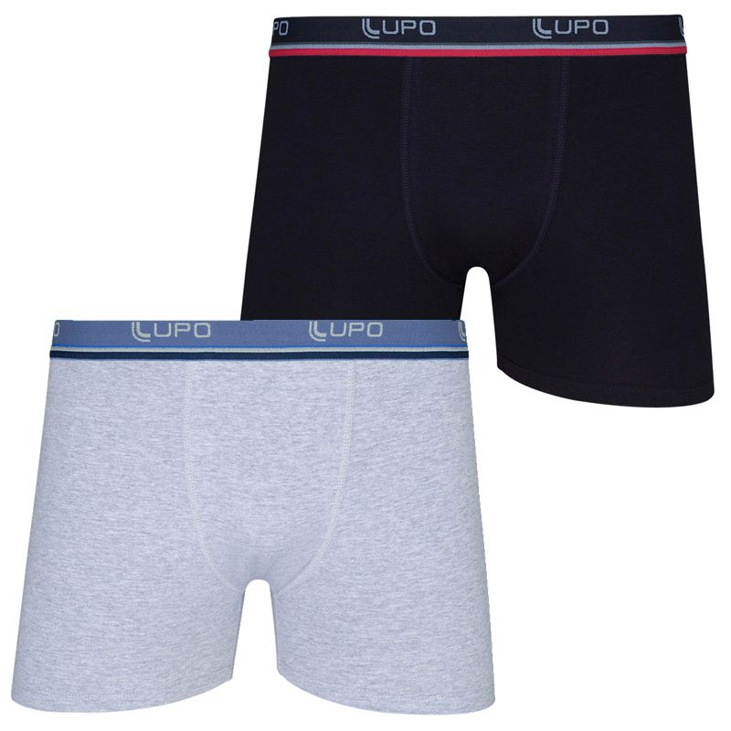 Kit c/2 Cuecas Boxer Lupo Cotton  523-088