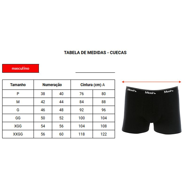Kit C/ 2 Cuecas Mash Boxer Cotton - 110.04