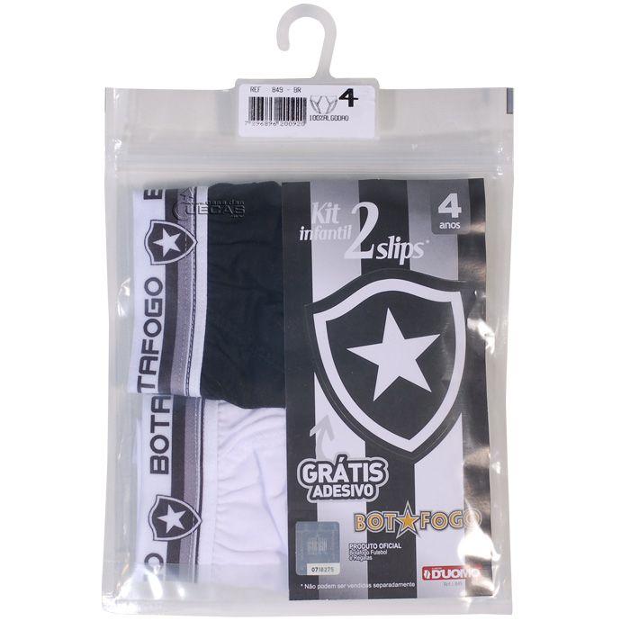 Kit C/ 2 Cuecas Slip Infantil Botafogo - 849
