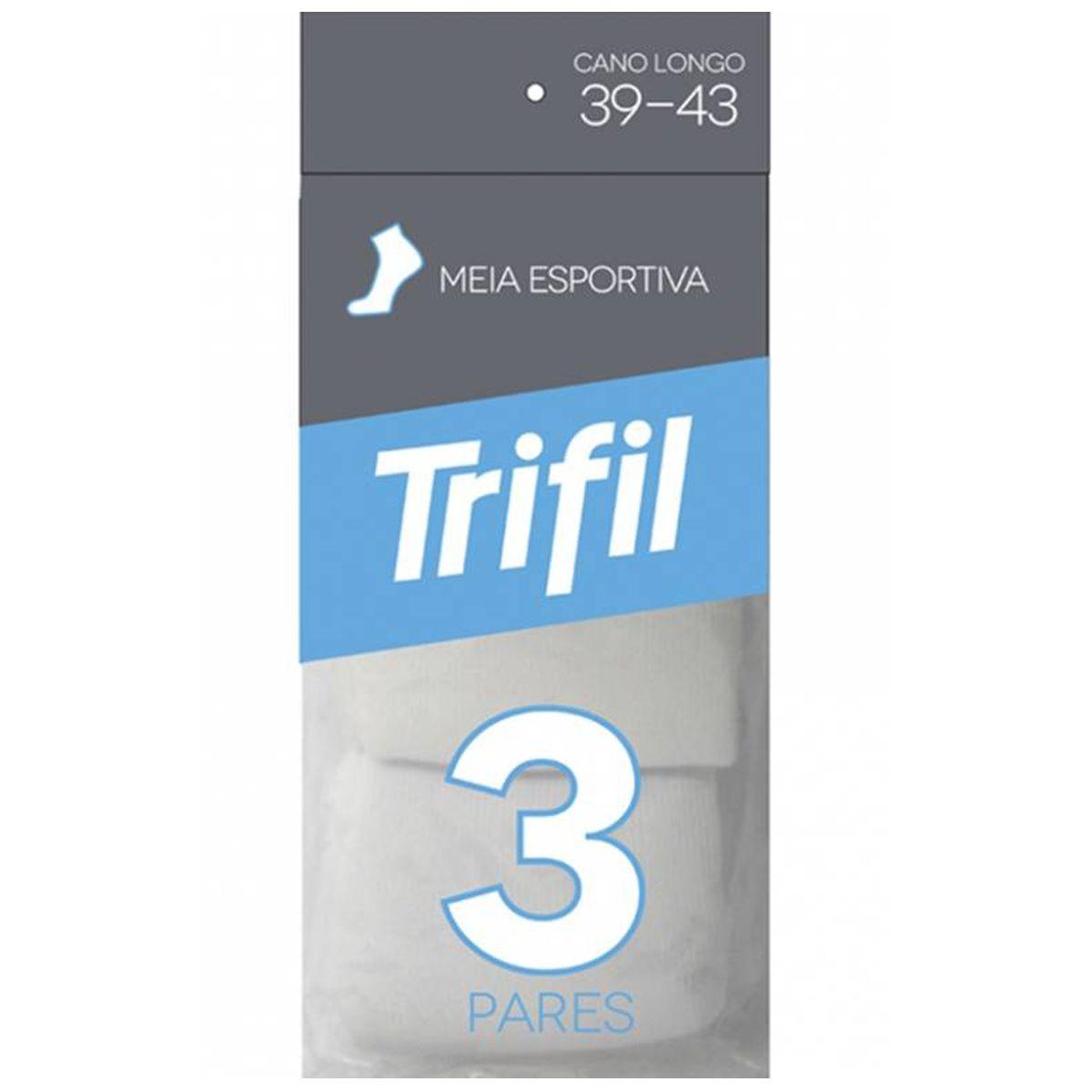 Kit c/ 3 Pares de Meias Esportiva Cano Curto Trifil - T08721