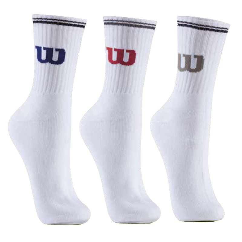 Kit c/3 Pares Meia Esportiva Wilson All Sport Socks - CB4170