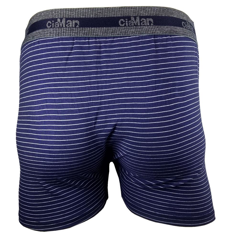 Kit c/6 Cuecas Boxer Cotton Plus Size CiaMan Risca de Giz BPS42