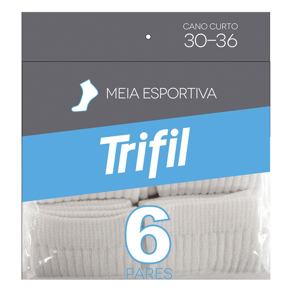 Kit c/ 6 Pares Esportiva Algodão Trifil 30/36 - T08516