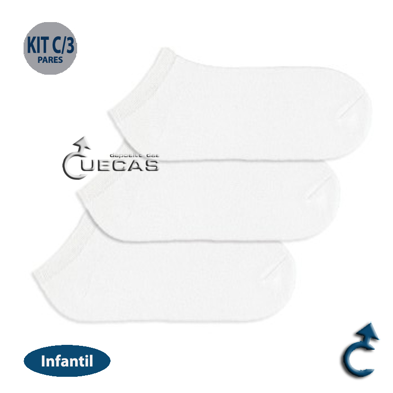 Kit Meia Invisivel Trifil C/ 3 Pares Infantil - T05442