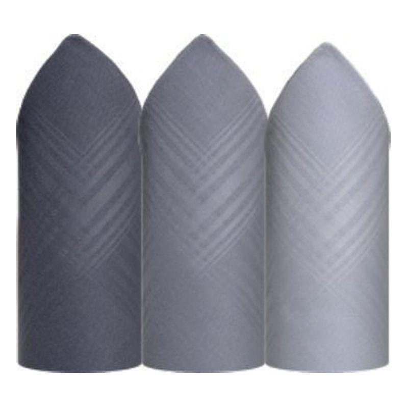 Lenço Premier Puro Algodão C/3 Colorido 32 x 32 cm- 2405D
