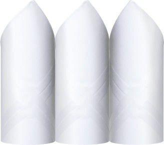 Lenço Presidente Fino Puro Algodão Branco C/3 41 X 41 cm - 2720