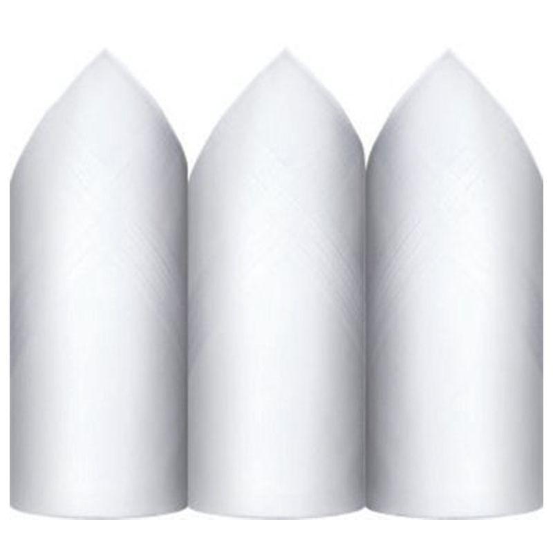Lenço Presidente Puro Algodão Branco C/3 44 x 44 cm - 5006