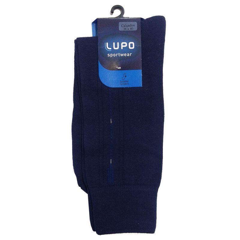 Meia Lupo Casual Sportwear Algodão Azul Marinho - 01250-105