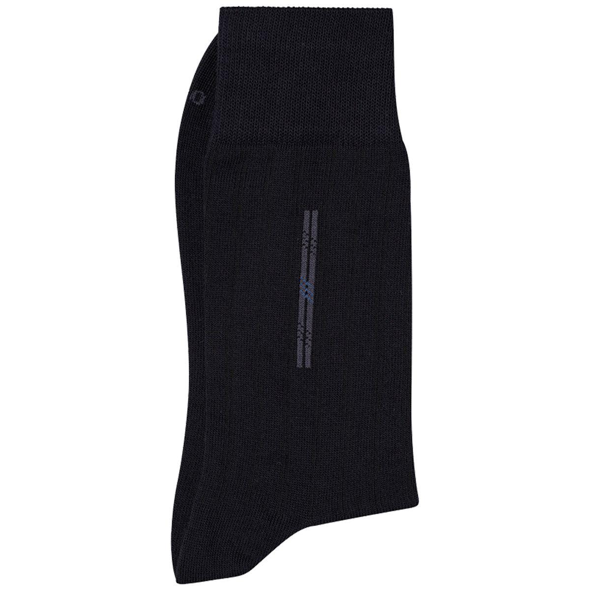 Meia Social Lupo Preta Casual Sportwear Algodão 01250