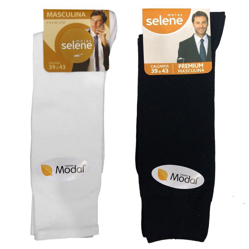Meia Social Masculina Premium em Modal Selene - 8350