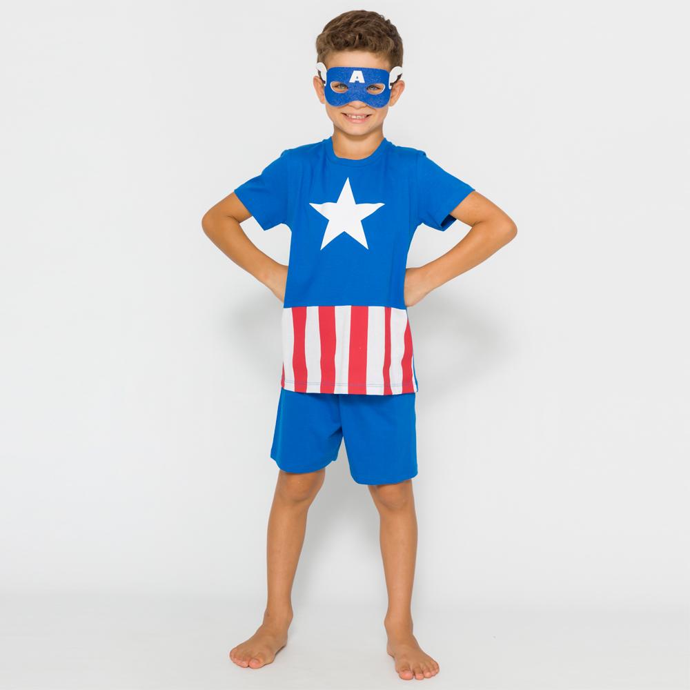 Pijama Infantil Capitão América Avengers - Marvel 52.05.0048