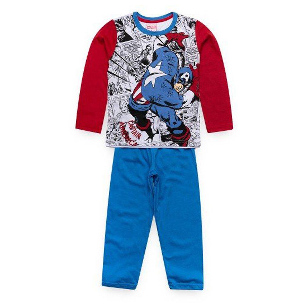 Pijama Infantil Longo Capitão América Avengers - Marvel 27.05.0097