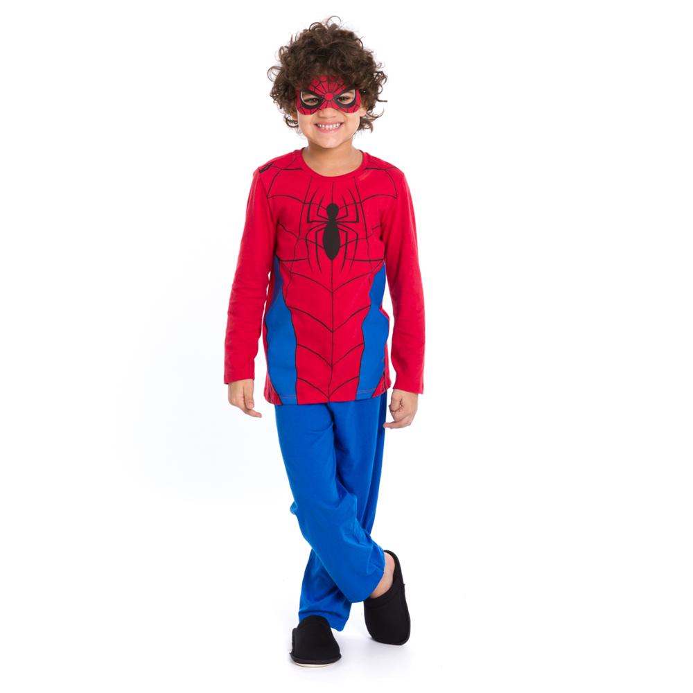 Pijama Infantil Longo Homem Aranha - Marvel 27.05.0104