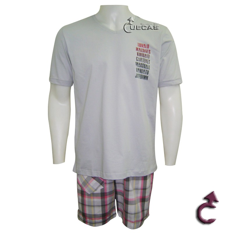 Pijama Just For Man Curto 1/2 Malha Maxi  - 15.000182
