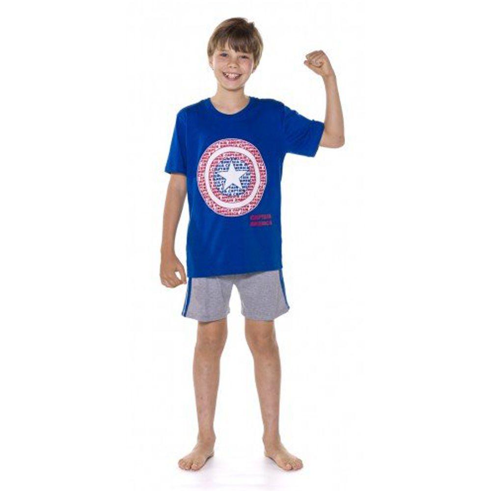 Pijama Juvenil Capitão América Avengers - Marvel 53.27.0012