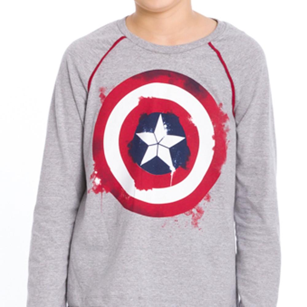 Pijama Longo Juvenil Capitão América Avengers - Marvel 28.05.0020