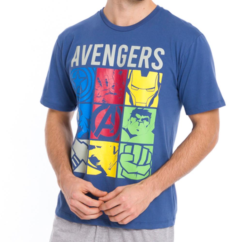 Pijama Masculino Adulto Avengers Marvel - 54.05.0009